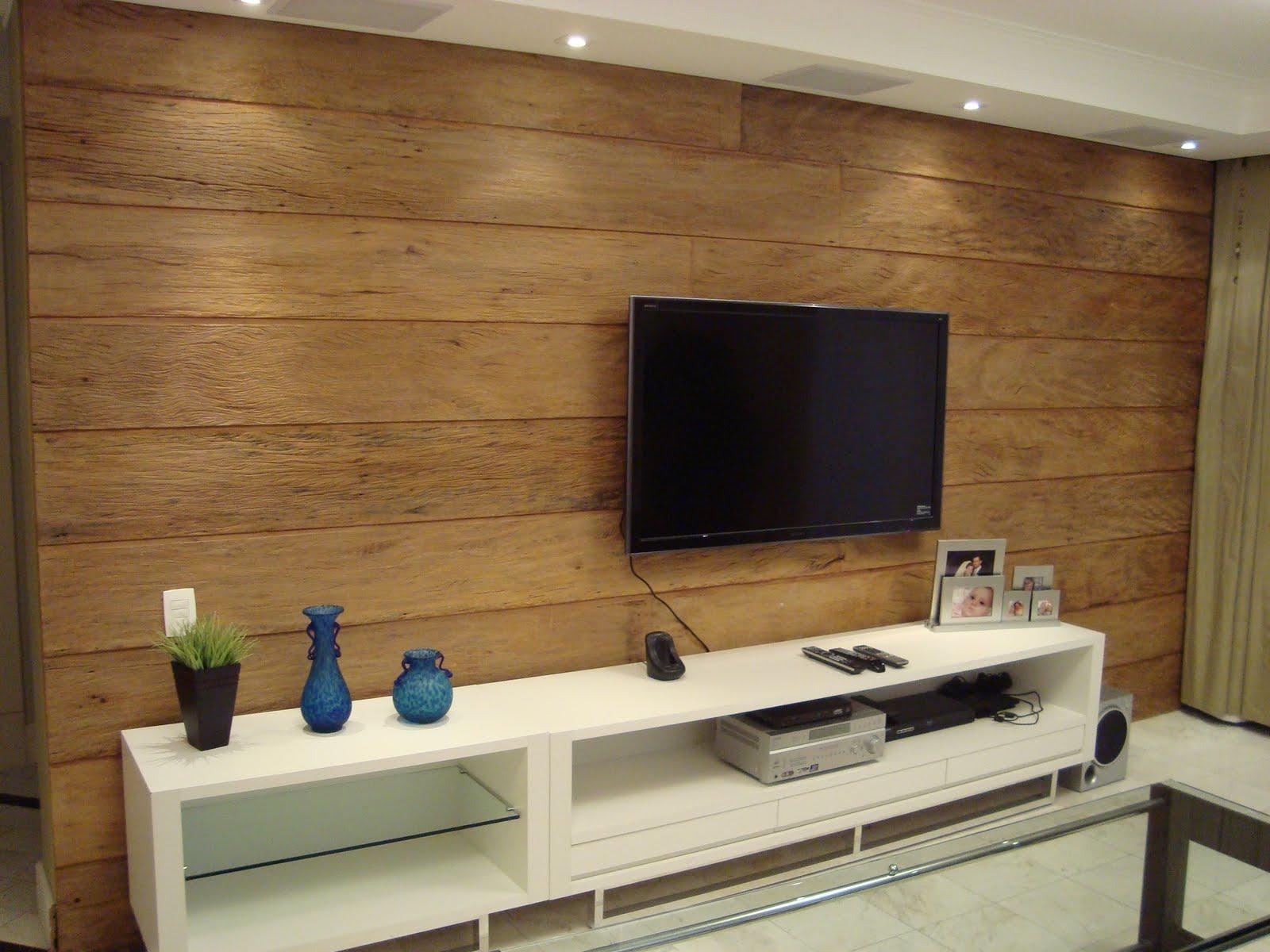 Tv Parede Sala Fotos De Salas De Tv Sala De Tv Clean Com Painel  -> Mural Parede Sala
