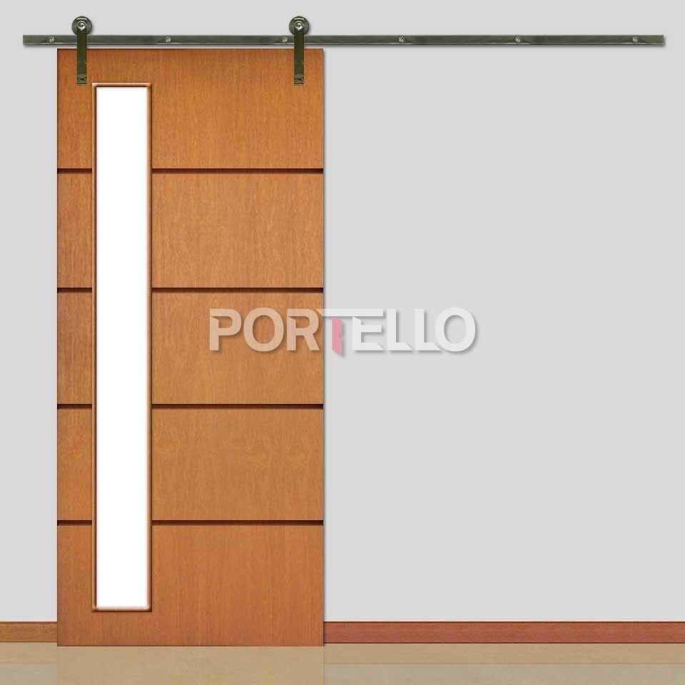 Porta De Correr Com Roldana Portello Portas De Madeira