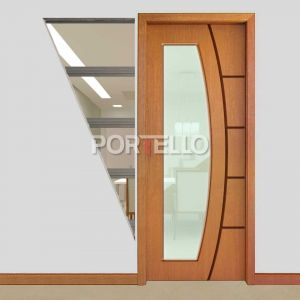 Porta Eclisse Embutir ptl 49 vidro