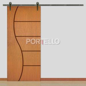 Porta Correr Roldana Aparente ptl 49s