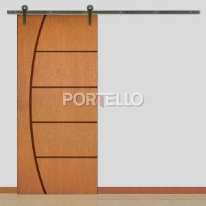 Porta Correr Roldana Aparente ptl 49
