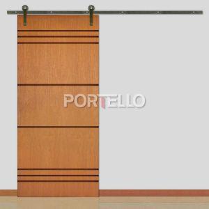 Porta Correr Roldana Aparente ptl 448