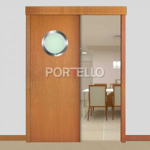 Porta Correr Trave Completa PTL28 escotilha