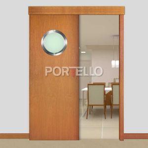 Porta Correr Trave L PTL28 escotilha