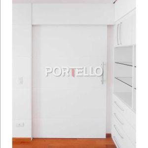 Porta Painel Correr embutida laca branca fechada 3386 jvlt