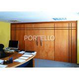 Porta Frisada Correr 4 folhas oposta madeira curupixa 1469
